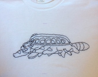 Catbus hand-embroidered shirt