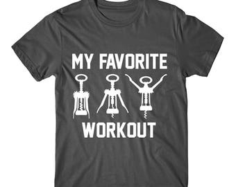 My Favorite Workout, Womens Graphic Tee, Womens Graphic Tshirt, funny shirts, funny tshirts