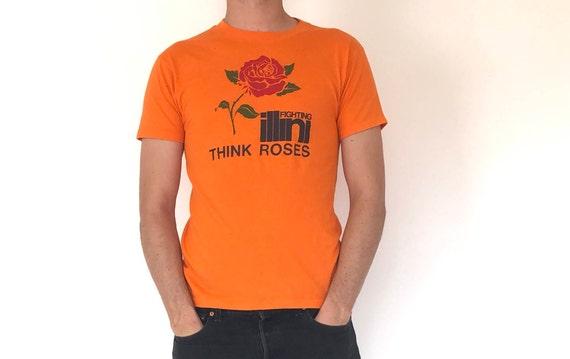 """Fighting Illini """"Think Roses"""" tee ~ 90s"""