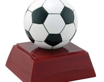 Color Soccer Ball Resin Award - Soccer Trophy - Free Personalization