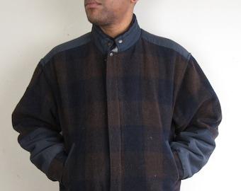 Checkered Bomber Jacket