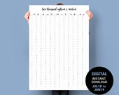 Wall Planner 2018-2019. JULY to JUNE. PRINTABLE Midyear Calendar. Australia Financial Year A1 Poster. Minimalist Business Planner Academic
