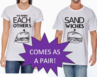 "Disney Frozen Inspired ""We Finish Each Other's Sandwiches"" Matching Couples/Kids shirts for Disneyland/DisneyWorld or Frozen Birthday Party"