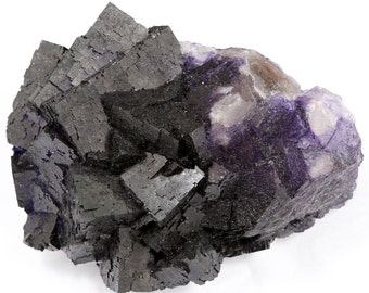 Deep Purple Fluorite Mineral Specimen FLUP28