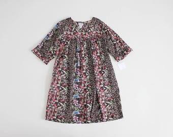 floral moo moo dress | wildflower dress | black floral tent dress
