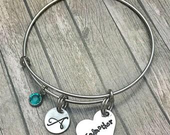 20%OFF Summer Sale- Godmother gift - Godmother - Gift for godmother - Godparent gift - Godmother jewelry - Godmother bracelet - Gift from go