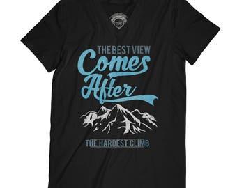 Fathers day shirt mountaineers t-shirt adventure t-shirt hiking tshirt mountains tshirt best view t-shirt climbing t-shirt AP8