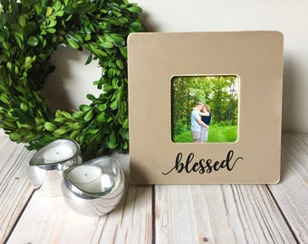 Blessed Sign - Picture Frame - Wood Frame - Rustic Home Decor - Farmhouse Decor - Housewarming Gift - Fall Decor - Thanksgiving Decor