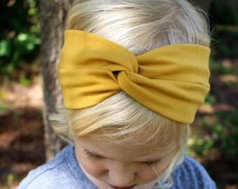 mustard turban headband