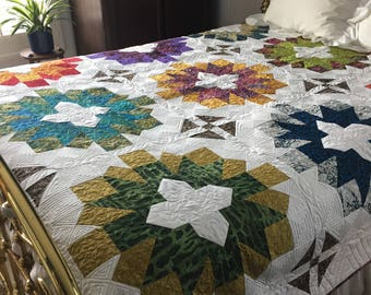 Braced starburst king size quilt