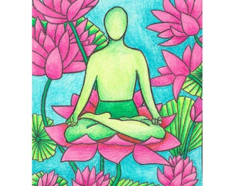 yoga pose print || yoga gifts || yoga artwork || yoga watercolor || yoga art print || yoga studio art || yoga print || gift for Yogi