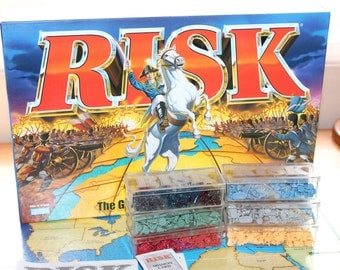 1998 Risk Board Game -- Parker Brothers -- The Game Of World Domination -- Strategy, Armies, Gaming, Military