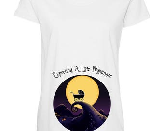 Nightmare Before Christmas Maternity shirt / Disney Maternity shirt / Halloween Maternity shirt / Maternity