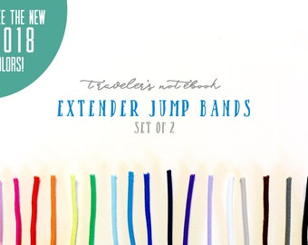 Extender Jump Bands for your Traveler's Notebook, Pack of 2, A5, A6, Personal, Regular, Etc. Lots of Colors, Connector Bands, Extender Bands