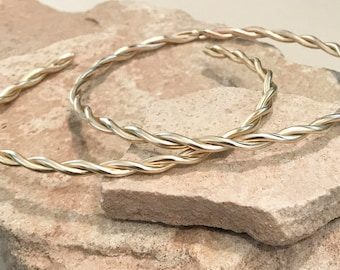 Twisted brass bangle bracelets, twisted round bangle bracelet, stackable brass bracelets, brass bracelets, bangles, gift for her