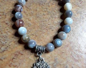 Bracelet stones natural Botswana Agate