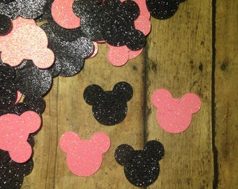 Minnie Mouse confetti, birthday confetti, party confetti, Minnie Mouse birthday supplies, Minnie Mouse birthday decor, glitter confetti