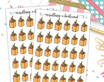 Grocery Bags Planner Stickers | 0288