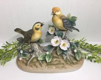 Porcelain Birds  Warbler by Andrea by Sadek Vintage