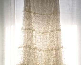 Lacey Ivory Maxi skirt