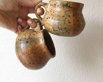vintage stoneware ceramic mugs
