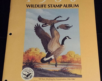 National Wildlife Federation Wildlife Stamp Album 1986, NO STAMPS