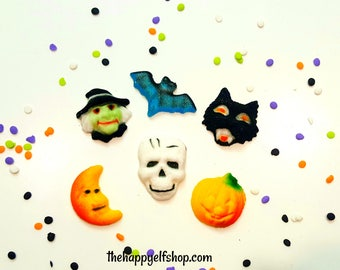 halloween sugar decorations cupcake decorations molded sugar decorations sugar halloween edible decorations - Edible Halloween Decorations