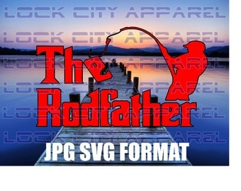 The Rodfather Fisherman SVG Cut File Silhouette Cameo