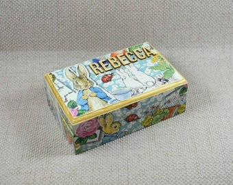 Peter Rabbit Wooden Keepsake Box