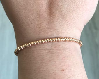 Rose gold bracelet, rose gold beads bracelet, rocaille bracelet, Christmas present, bridesmaids gift, mothersday present, boho bracelet