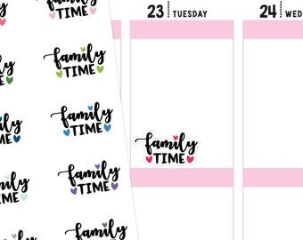 Family Time Planner Stickers, Family Time Filter Sticker, Family Stickers, Font Stickers, Script Stickers, Typography Stickers