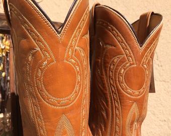 Tony Lama Sundial Stitch Cowboy Boot