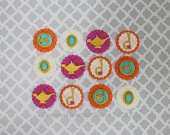 Arabian Princess, Jasmine, Shimmer & Shine Cupcake Toppers