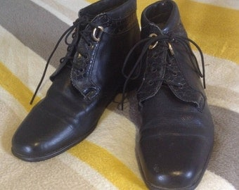Leather Victorian Style Boots