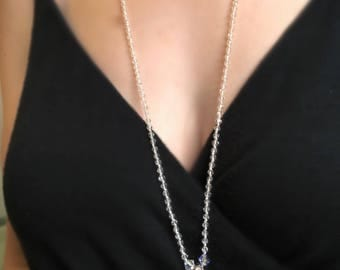 Crystal & Swarovski Teardrop Necklace