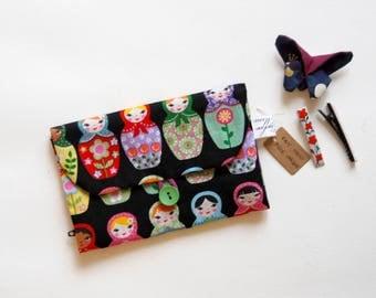 organizer hair slide clips barrette bag pouch matryoshka