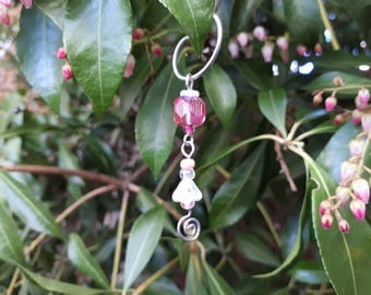 Mini Pink Fairy Wish Catcher - Fairy Garden Accessory WC-11