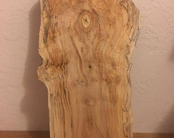 Live Edge Spalted Maple Wood Slab, Kiln Dried, Natural Edge
