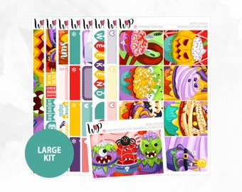 Devil's Food Large Kit | Full Boxes Checklists Functional Boxes Headers Sidebar Extras Washi | Matte Glossy Planner Stickers