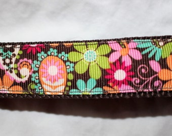 """Whimsical Flower Dog Collar - Side Release Buckle (1"""" Width)"""