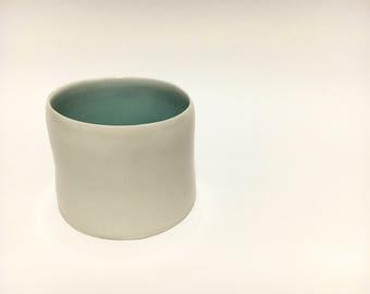 Blue porcelain cylinder
