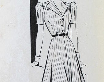 1940s Dress Pattern - Vintage Mail Order Sewing Pattern, 8727 - Bust 32