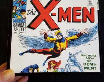 Re-purposed cigar box decorated inside & out w/ unique Silver Age design using photocopies of vintage 1970s X-Men covers by Jim Steranko.