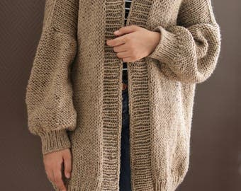 Oversized Chunky Knit Sweater, Loose Knit, Slouchy Sweater, Cozy Knit Sweater,