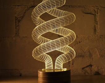 Spiral Energy-efficient Lamp Vector Model - svg cdr pdf dxf files - Instant Download Files for Laser Cutting Printing CNC Engraving Clipart