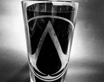 Etched Assassins Creed Glasses