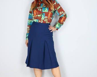 1960s Shirt - Rare Novelty Print Shirt - Art Deco Graphic Top - Button Up Long Sleeve - Hipster Multicolour Shirt - Size Medium
