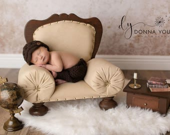 Baby Crochet Photography Prop Outfit, Newborn Pants and Newsboy Hat Set, Baby Twins Boy Photo Clothing, Infant Gift, Made to Order