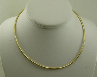 Omega 2.6 mm Necklace 14k Yellow gold 16 Inches