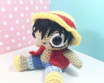 Monkey D. Luffy Crochet Plushie **Ready to Ship